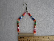 New listing 1 Small Beaded Swing for Smaller Birds parakeets, canaries, finches, love birds