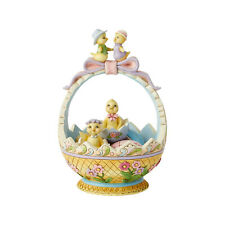 Jim Shore 2019 14th Annual Easter Basket w/Pastel Eggs & Chicks Figurine 6001604