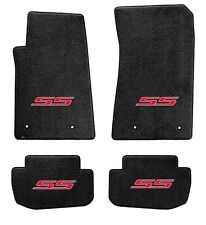 NEW! BLACK FLOOR MATS 2014-2017 SS Sedan Embroidered SS Logo in Red on all 4