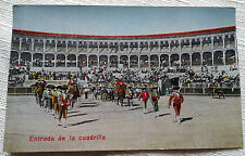 Entrada de la Cuadrilla Postcard Bull Fighting Spain 1920s Arena VTG