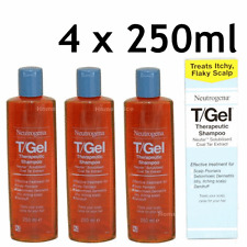 4 x 250ml TGEL T/GEL THERAPUTIC SHAMPOO  NEUTROGENA T GEL Itchy Scalp Treatment