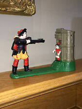 Vintage Cast Iron Mechanical Bank – William Tell & Apple – Stevens Reproduction