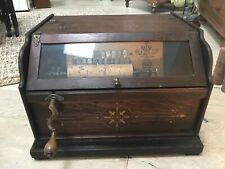 1887 Concert Roller Organ Hand Crank Victorian Music Box Including 15 Rollers