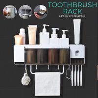 2/3/4Cup Family Toothbrush Toothpaste Towel Holder Bathroom Shelf Rack  UU
