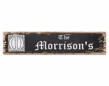 SP0846 The MORRISON Family name Sign Bar Store Shop Cafe Home Chic Decor Gift