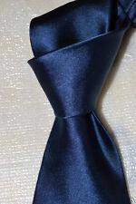 """$215 NWT PURPLE LABEL Ralph Lauren Navy 3.5"""" men's handmade satin silk tie Italy"""