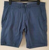 """MEN`S NEW MCNEAL CASUAL COTTON CHINO SHORTS 36"""" WAIST BLUE"""