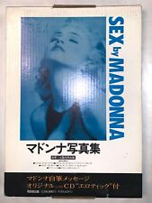 MADONNA SEX BOOK SEALED UNOPENED BOX with CD & COMIC  Japan version. Mint.
