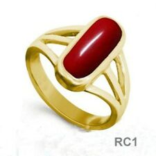 5 CT Italian RED CORAL Excellent Quality Copper Ring RC1