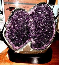 HUGE  TALL AMETHYST CRYSTAL CLUSTER  GEODE FROM URUGUAY, POLISHED RIM!!
