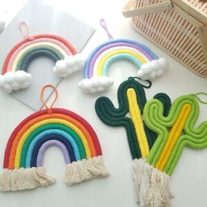 Decorating baby kids room rainbow cactus macrame hanging decor interior 3designs