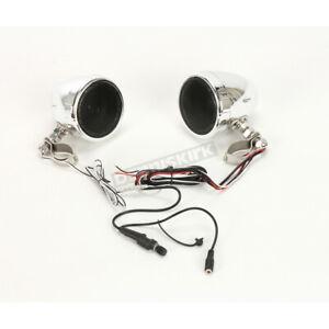 "BOSS MC425BA 3"" Waterproof Bluetooth Motorcycle Handlebar Speakers Amp Chrome"