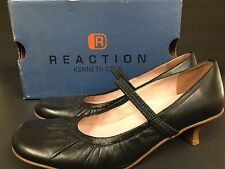 Pre-owned Reaction Kenneth Cole Woman Authentic Brand Leather Shoes Black