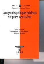 L'analyse des politiques publiques aux prises avec le droit