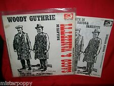 WOODY GUTHRIE Ballate di Sacco & Vanzetti LP ITALY 1975 EX+ + Booklet Spartiti