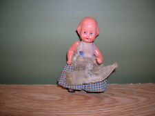 "Vintage 3"" Hard Plastic Baby Doll Jointed Germany Edz Eds Edi 4/8"
