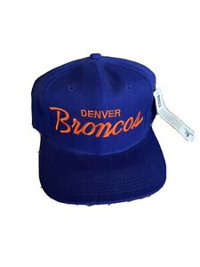 NWT VTG Denver Broncos Sports Specialties Wool SL Script Snapback USA MADE RARE