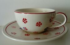 Whittards of Chelsea Cup & Saucer - Red Pink & Blue Flowers