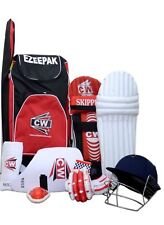 Cw Junior Cricket kit Red Size 5 With Kashmir Willow Bat Ideal For 9-10 Yr Child