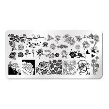 XL Stamping Schablone Stempel Platte Rose Rosen Blumen J002