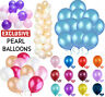 "20X 5"" 10"" 12"" PEARL Metallic BALLOONS BALLONS Birthday Wedding Party BALOONS UK"