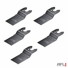 5 Pack Faithfull Multi-Function Tool CRV Flush Cut Wood Saw Blade Side Set 34mm