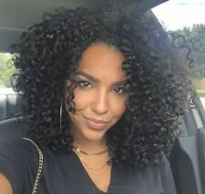 ATOZ Black Synthetic Wig Thick Short Curly Afro African American Wigs for Women