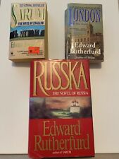 Edward Rutherfurd Books. Sarum. London. Russka. Lot Of 3.