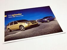2005 Chevrolet Uplander Information Sheet Brochure