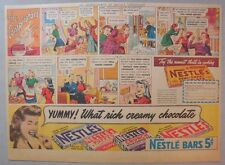 Nestle's Chocolate Bars Ad: The Conspirators! from 1930's-1940's 11 x 15 inches