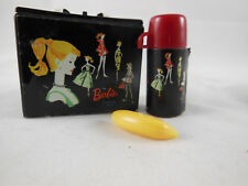 "Barbie Lunchbox 1999 Mattel Case w Thermos & Banana 1.25"" X 1.5"" for dolls mini"