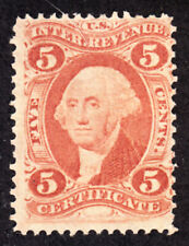 Us R24c 5c Certificate Revenue Vf 1868 Mint No Gum Mng Hk7486