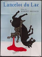 """LANCELOT DU LAC / OF THE LAKE 1974 French 45""""x61"""" poster Robert Bresson Savignac"""
