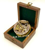Brass Sundial Compass Vintage style Nautical  Sundial with Presentation Box