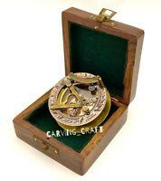 Brass Sundial Compass Vintage style Nautical  Sundial with Presentation Box