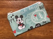Mickey Mouse /& Friends Fabric Handmade Zippy Coin Purse Storage Pouch