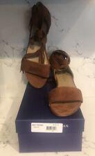 f8c5de2f3fefc NEW STUART WEITZMAN Corbata  398 Suede Sandal ankle wrap Amaretto Sz 10.5  shoes