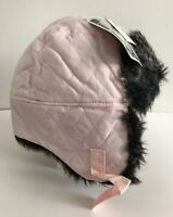 GAP Baby Ivory Faux Fur Trapper Hat Toddler Boys Size 12-18 Months NWT Gray