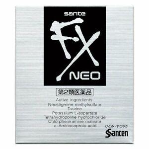 F/S SANTE FX NEO Japanese Cool Eye Drops Cooling Eyedrops 12ml Santen