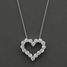 "0.35 Tcw Heart Cut D/VVS1 Diamond Love Pendant 18"" Chain Valentine Gift Wife"