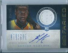2012-13 Intrigue Rookie Materials Autographs Kenneth Faried /125 RC Auto