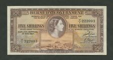 More details for bermuda  qeii  5 sh  1957  p18b  good vf+  banknotes