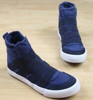 Mens Canvas High Tops Sneakers Pull on Sport Shoes US FULL Spring Ths01
