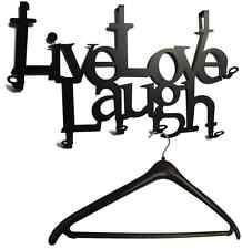 Türgarderobe LIVE LOVE LAUGH -  Flur GARDEROBE, 6 Haken, Metall - Original NEU
