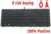 Swedish Finnish Keyboard For HP ProBook 430 440 G3 G4 640 G2 Backlit No Pointer