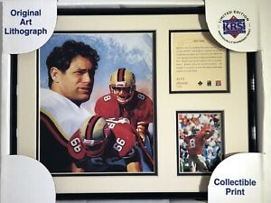 1996 Steve Young San Francisco 49ers Framed Kelly Russell Lithograph Print #470