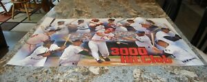 3000 Hit Club MLB Poster  Pete Rose in center 35 1/2 x 22