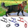 Nylon Pet Cat Kitten Adjustable Harness Lead Leash Collar Belt Safety Rope
