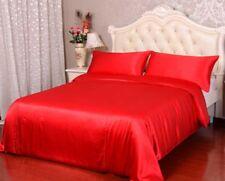 4pc 40mm 100% Mulberry Silk Duvet Quilt Cover Flat Top Sheet Pillow Case Set