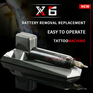 Black X6 Wireless Rechargeable Cartridges Needles Rotary Pen Tattoo Machine New